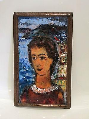 Emaille Bild Karl Dörrfuß ( 1906 -1984 Fürth )Email enamel painting 60er Jahre