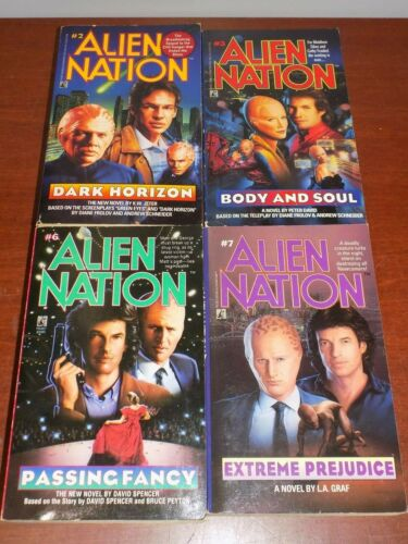 Lot of 4 Alien Nation books PB #2 3 6 7 TV Movie Tie-In Novelizations