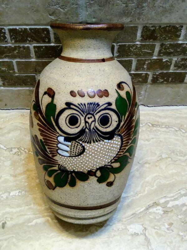 Mexican Handmade Pottery Vase Owl Collectible Home Decor