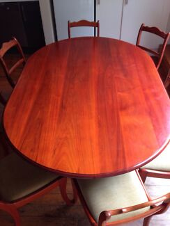 8 matching chairs and dining table  Bronte Eastern Suburbs Preview