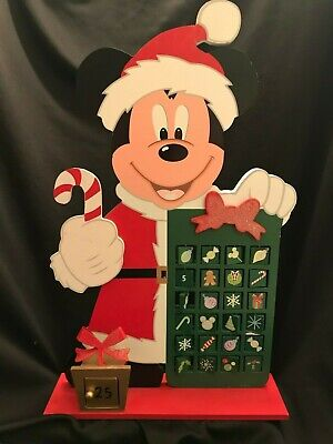 Disney Mickey Mouse Advent Calendar Christmas Countdown Movable Squares 2009