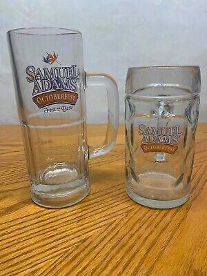 2 Samuel Sam Adams Beer Octoberfest Fest Best Mug Glass  (Best Sam Adams Beer)