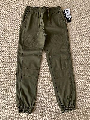 NWT Men's Retro Stitch Olive Moto Quilted Stretch Twill Jogger Pants SIZES -
