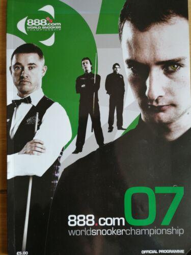 888.com World Snooker Championship 2007 Programme Shaun Murphy Autograph.