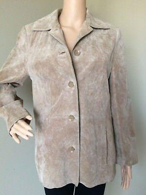 BERNARDO for Nordstrom Petite Women's Washable Suede Jacket Button Front Blazer ()