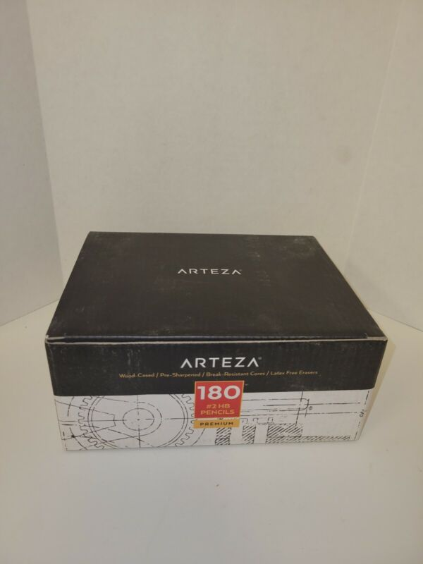 New sealed Arteza 180 Wood Cased #2 HB Graphite Pencils Pre-Sharpened with Latex
