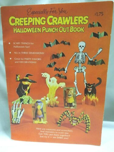 American Greetings Creeping Crawlers Halloween Punch-Out Book unpunched