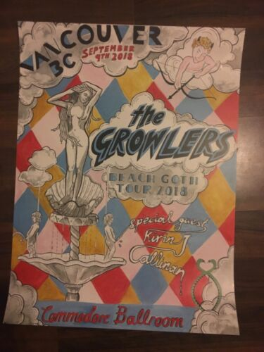 GROWLERS BEACH GOTH TOUR 2018 POSTER