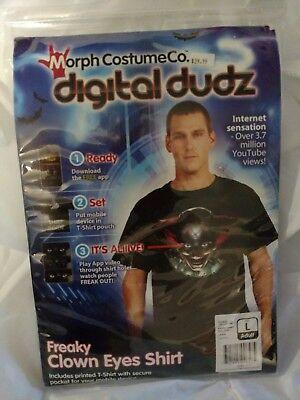Digital Dudz Costume Freaky Clown Eyes Shirt (Large) Halloween  (Freaky Clown Costume)