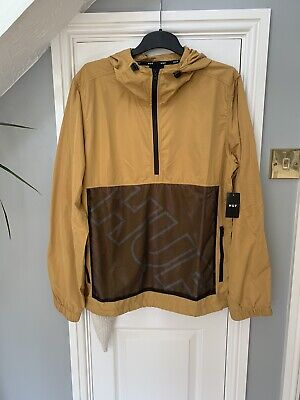 New With Tags HUF Wire Frame Anorak Windbreaker Jacket Coat Size Large RRP £90