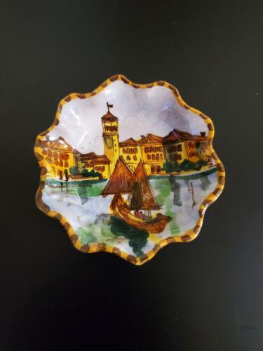 Vintage Italian Murano Venezia Sermione F.lli Bianchi Small Ceramic Trinket Dish