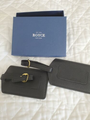 Royce New York Royce Black Leather Luggage Tag Set Of Two  - $20.00