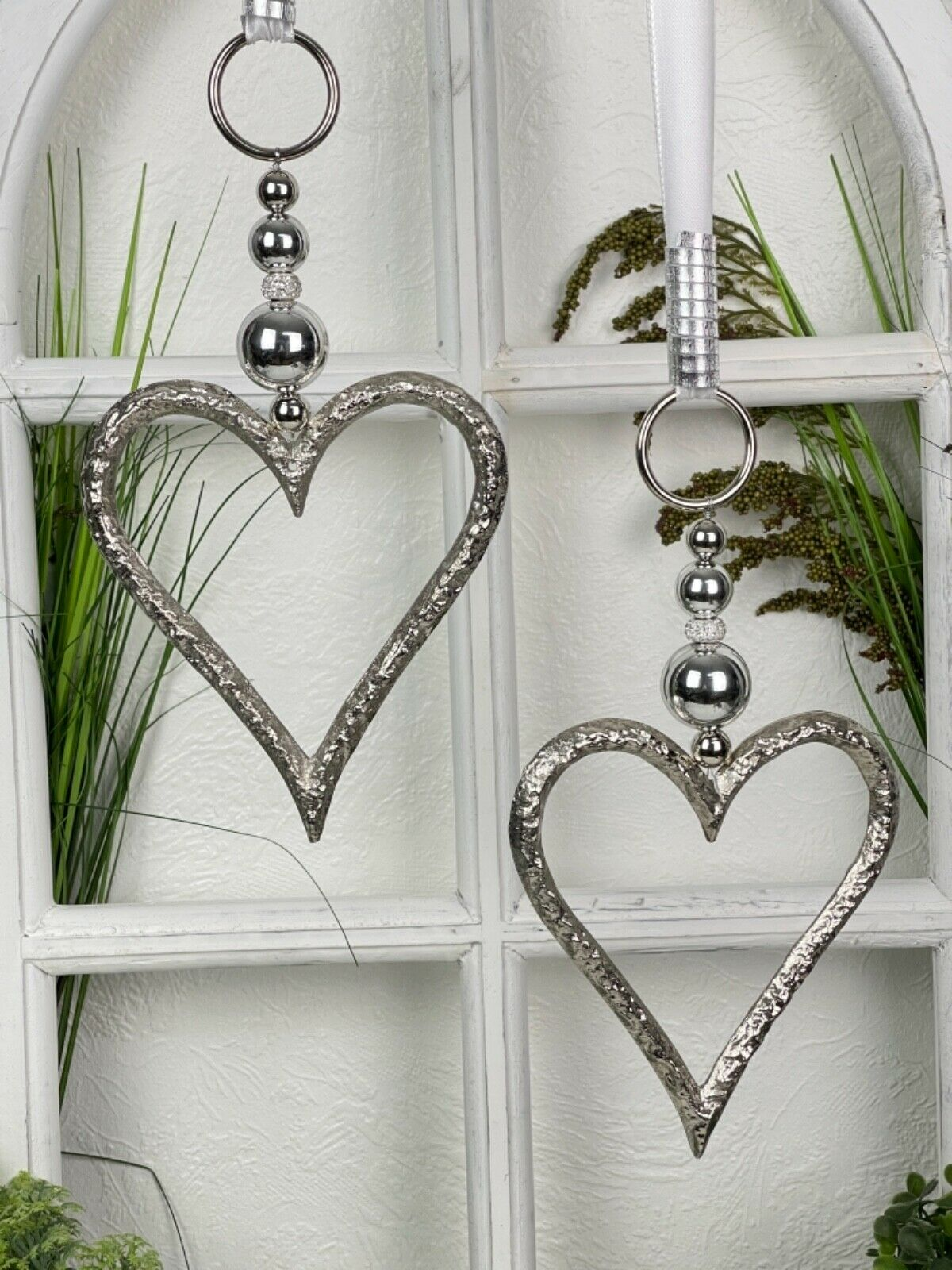 🌹 Fensterdeko Metall Herz offen 15cm,  Dekohänger, Fensterdekoration, Deko