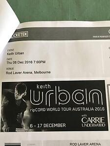 2 X KEITH URBAN RIPCORD CONCERT WITH CARRIE UNDERWOOD TICKETS Riddells Creek Macedon Ranges Preview