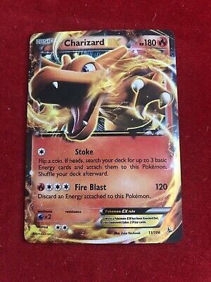 1 x Pokemon Charizard-EX - 11/106 - Holo Rare EX XY Flashfire - NM-Mint