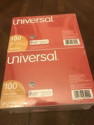 Universal 1000 Unruled Index Cards 4 X 6 White Ten Pack Of 100 Part Unv 47220