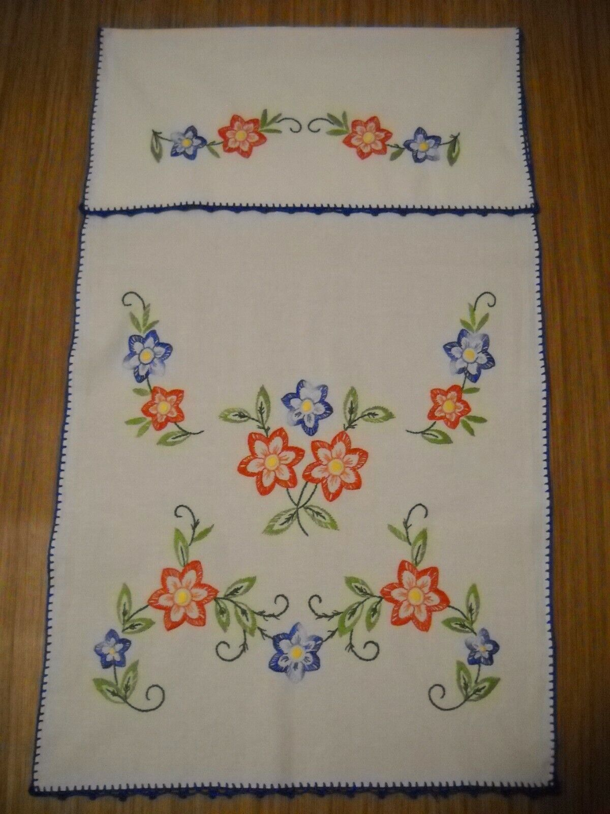 Vorhang Handtuchhalter Handarbeit Gestickt Blumen