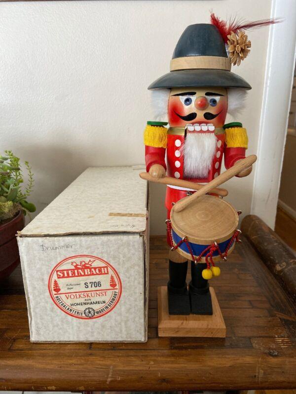 """Vintage~Steinbach Nutcracker~15"""" Drummer S706~W/ Original Box"""