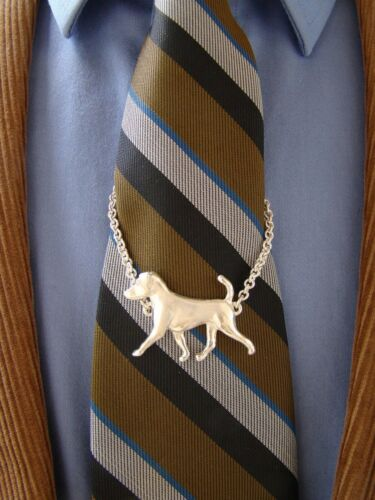 Large Sterling Silver Jack Russel Terrier Moving Study Tie Chain