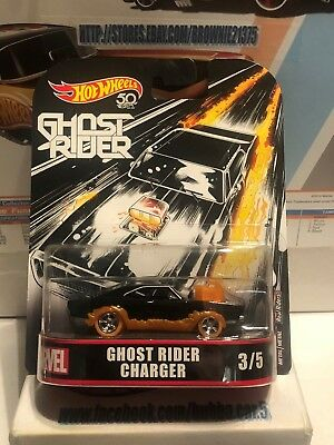 Hot Wheels Retro Entertainment Ghost Rider Charger 2018 NEW 1:64 Die-cast Marvel