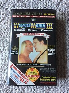 WWF Wrestlemania 3 VHS tape - GREAT CONDITION