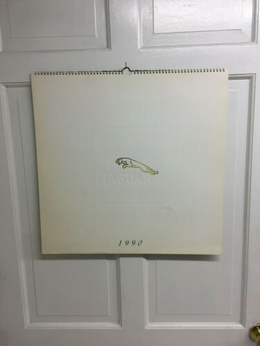 1990 JAGUAR LARGE WALL CALENDAR 21 X 21 BY WARWICKS OF COVENTRY ENGLAND