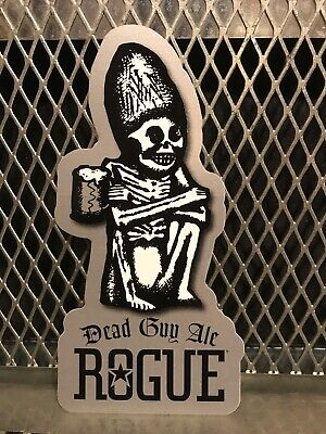 ROGUE ALES & SPIRITS BREWING ~ 3 X 6 ~  Dead Guy Ale ~ Craft Beer Sticker Sign