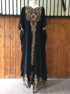 Arabian Kaftan abaya dress Bohemian dress maternity  dress black S to XXXL