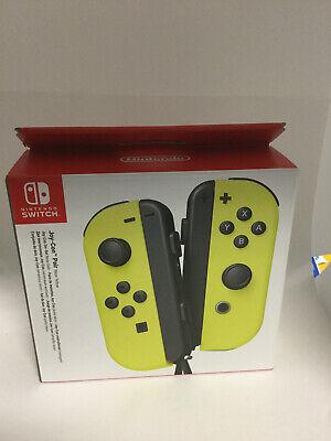 Nintendo Joy Con (L/R) Wireless Controllers for Nintendo Switch - Neon Yellow ,