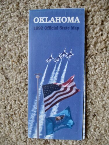 NOS 1992 Official OKLAHOMA Official State Transportation MAP w/Insets Cities