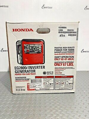 Honda Eg2800ia 2500w 30 Amp Inverter Generator P-19