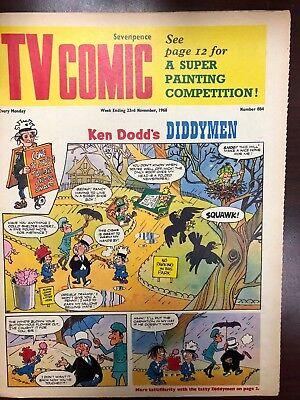 TV COMIC #884 weekly British comic book November 23 1968  Avengers Doctor Who
