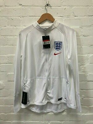 Nike England Football Women's Anthem Squad Jacket - Large - White - NWD