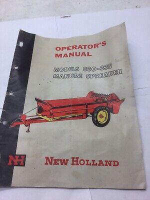 New Holland Manure Spreader Manual Models 330 - 335