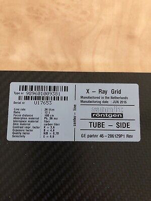46-286129p1 100 Cm Focus Grid. Used In Ge X-ray Systems-reduced