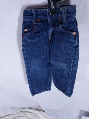 Vintage 1970s Levi's Jeans 302 0117 Baby Toddler Dark Wash Denim Measures 17x12