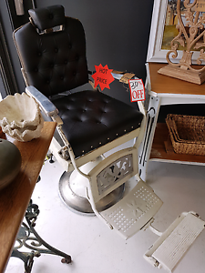 Vintage Barbers Chair. Fully Re-upholstered East Gosford Gosford Area Preview