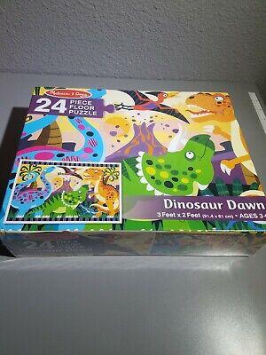 Melissa and Doug Dinosaur Dawn Floor Puzzle #4425 24 Pieces NEW sealed  Melissa & Doug Toys Dinosaur Floor Puzzle