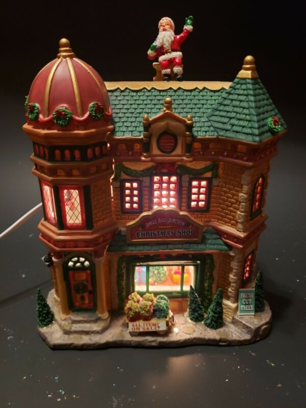 Lemax Village Collection Jingle Bell Junction Christmas Shop Lighted