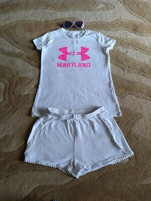 Under Armour T-shirt For Girl Youth Medium , Zara Shorts Size 8 plus  (Under Armour Sunglasses For Kids)