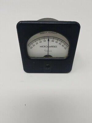 Vintage Simpson Electrical Panel Meter Gauge Microamperes Dc 0-100