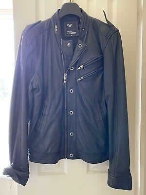 Mens Leather Jacket Size M