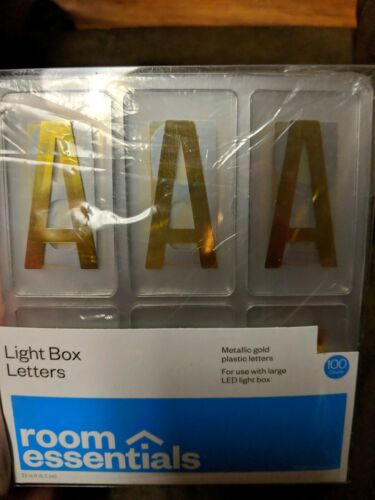 """New Light Box Letters Symbols 100 Count with Faces 2 1/2"""" ta"""