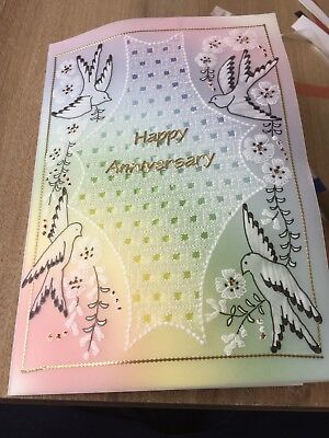 Exceptionally Beautiful Handcrafted Parchment card