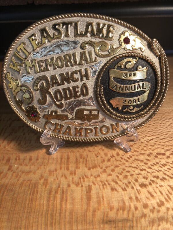 Frontier Kit Eastlake Memorial Ranch Rodeo Champion 3rd Annual 2001 Buckle