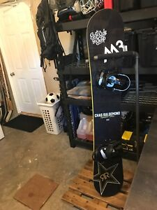 Chas Guldemond pro model M3 rocker 160 snowboard like new