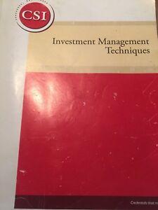 Investment Management Techniques Textbook IMT CSI
