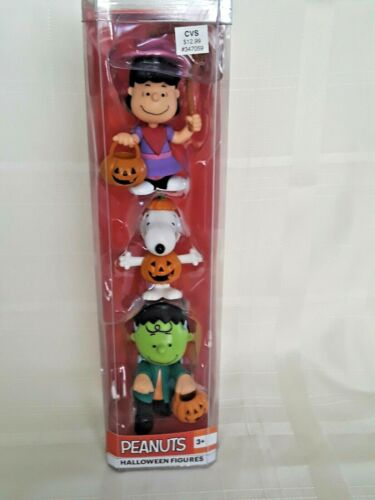 New in  Package-  Peanuts Halloween Figures 3 pieces  2019