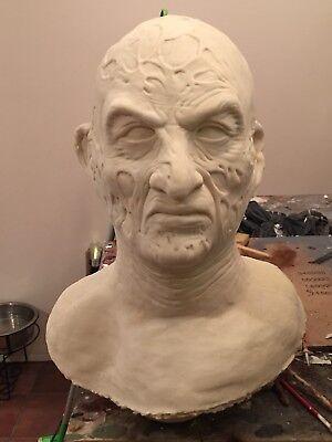 - Freddy Krueger Mask Mold Bust Prop Elm Street Horror Rare 1:1