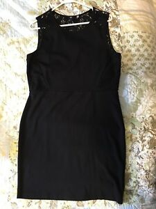 H&M black stretch dress
